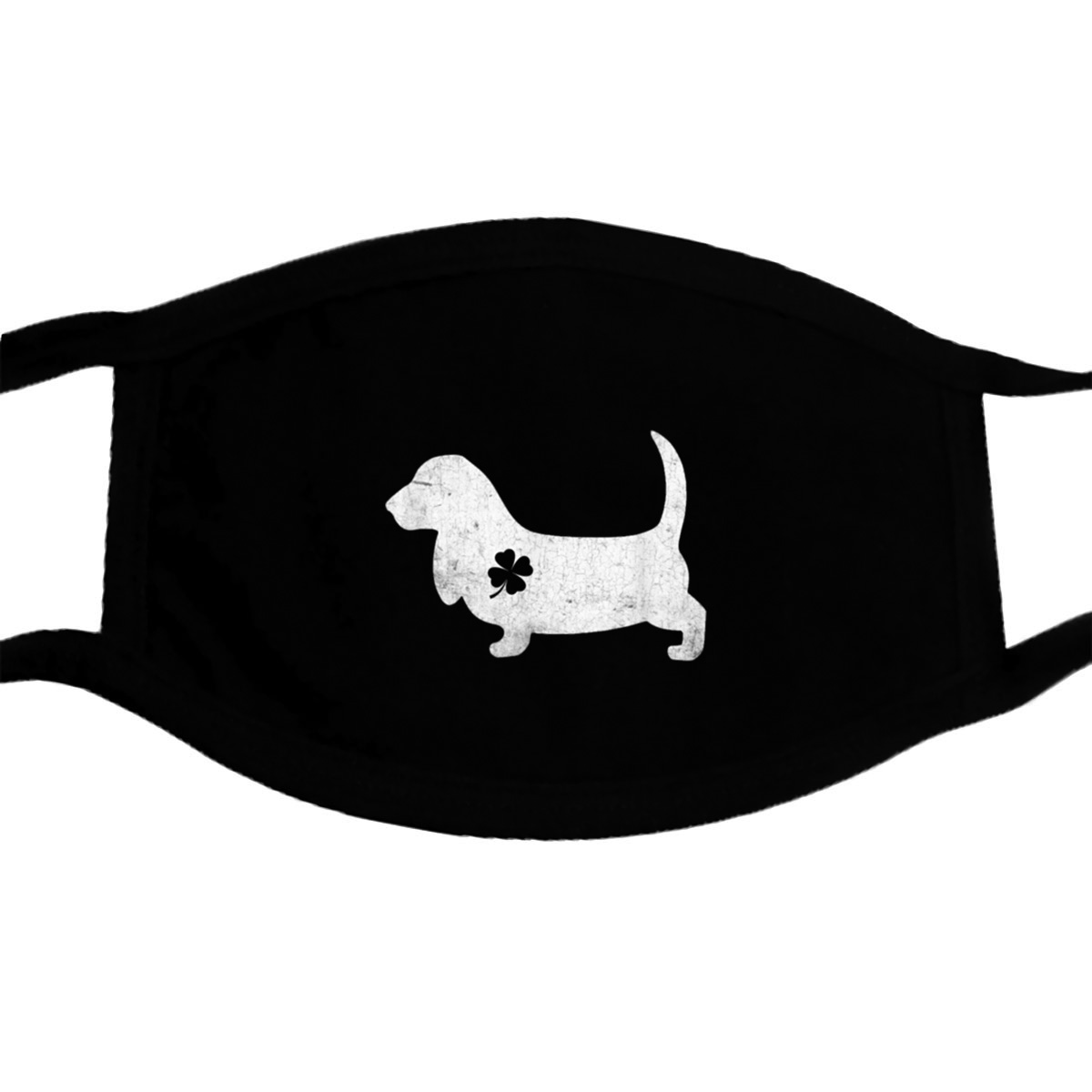 Basset Hound Fourleafclover Irish Patrick Day Gifts Mask