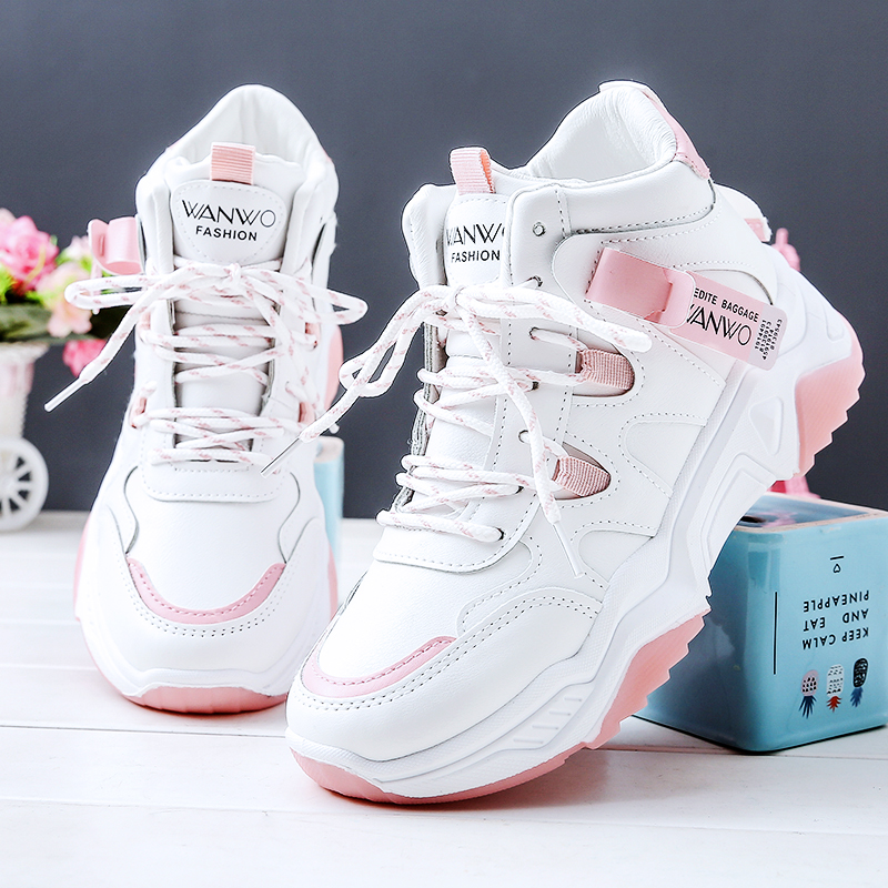 Женская обувь с высоким берцем кожаные износостойкие Нескользящие