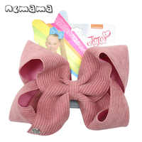 NEW 7'' Jojo Bows/Jojo Siwa Large Hair Bows for Girls Hair Clips Handmade Solid Velvet Hairgrips Party Kids Hair Accessories