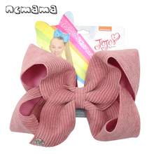 ncmama 7'' Jojo Bows Jojo Siwa Large Hair Bows for Girls Hair Clips Handmade Solid Velvet Hairgrips Party Kids Hair Accessories