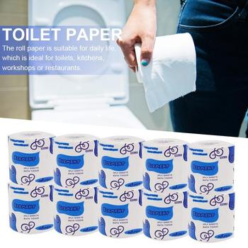 Baby Adults Roll Paper Native Wood Pulp Kitchen Roll Paper Safe Bathroom Toilet Paper Household Living Room Bedroom WC Tissue image