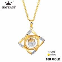 18 k pingente de ouro puro real au 750 charme de ouro sólido multicolorido flor de luxo na moda clássico festa jóias finas venda quente novo 2020