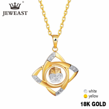 18K Pure Gold Pendant Real AU 750 Solid Gold Charm Multicolor Flower Upscale Trendy Classic Party Fine Jewelry Hot Sell New 2020