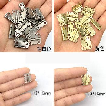 50 sztuk 16x13mm nikiel żółty zawiasy szafek akcesoria meblowe pudełka na biżuterię mały zawias okucia meblowe pokaż dane kontaktowe #8222 i wysłać śruby tanie i dobre opinie CN (pochodzenie) Do obróbki drewna NONE iron 16mm 0 4mm Furniture Hinge 16*13mm 0 4 16*13mm 0 63 *0 51 Antique bronze Gold