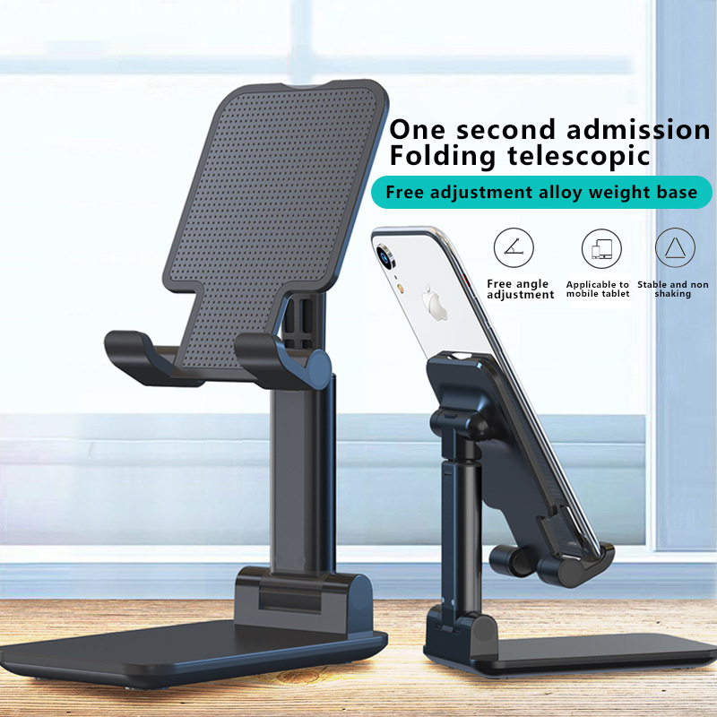 Luxury Telescopic Folding Smart Phone Tablet Stand Adjustable Holder For iPhone Samsung Huawei Xiaomi Oneplus Desktop Support|Phone Holders & Stands| |  - title=