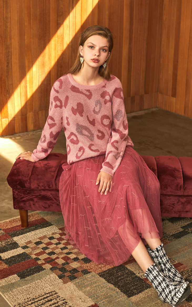 Loose Fit Leopard Animal Print Sweater 3