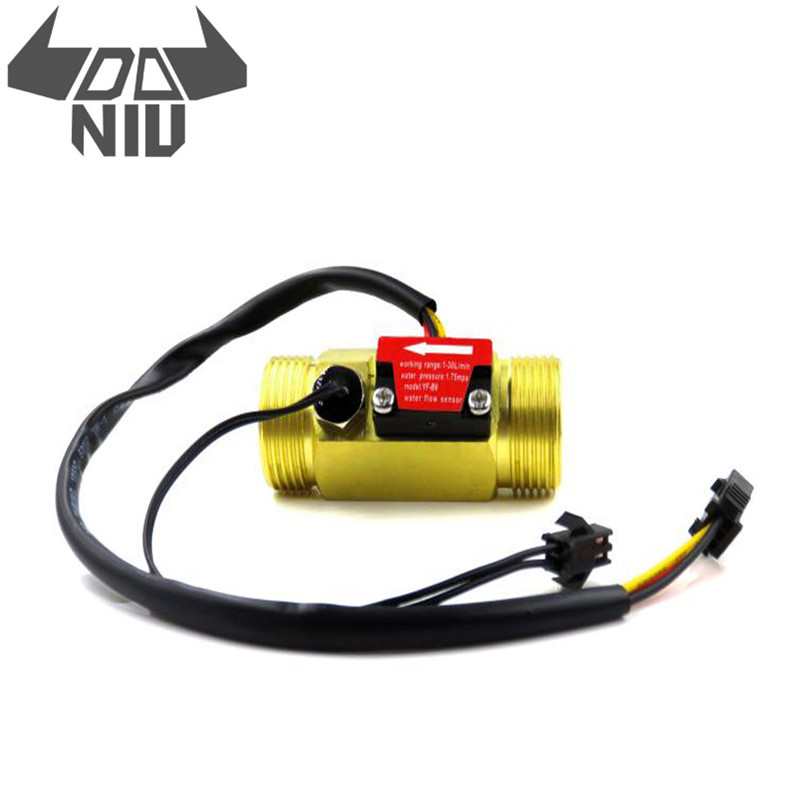 DANIU G3/4 Flow Sensor Water Flow Sensor Switch For Flow Meter Water Sensor Copper Shell Hall Flow Meter With Temperature Tool
