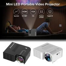 UC28C портативный видеопроектор для домашнего кинотеатра и офиса, черный/белый ЖК-проектор, мини медиаплеер для смартфонов