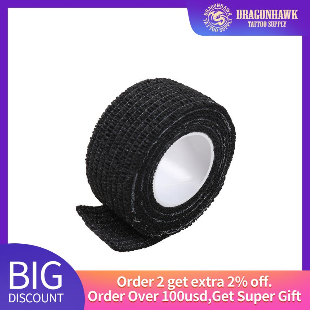 5 Roll Tattoo Self-adhesive Non-woven Elastic Bandage Grip Tube Cover Wrap Sport Tape Tattoo Supplies Accessories