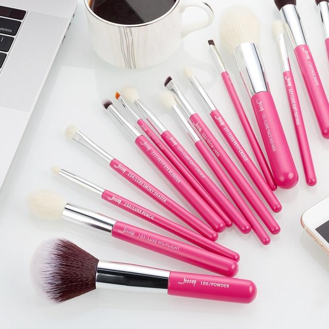 Jessup Rose-carmin/Silver Makeup brushes set Beauty Foundation Powder Eyeshadow Make up Brush 6pcs-25pcs Natural-synthetic hair 4