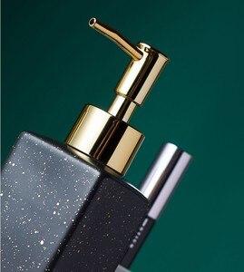 Image 4 - Ceramic Soap Dispenser Hand Sanitizer Bottle Nordic Bathroom Toilet Lotion Bottle Shower Gel Bottle Press Sub bottle Shampoo Bot