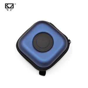 Image 4 - Originele Kz Pu Tas Earphone Headset Accessoires Portable Case Druk Schokabsorptie Opslag Pakket Case Tas Met Logo