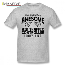 Awesome Air Traffic Controller Men T Shirt Pop Car Styling Oversize Cotton Short Sleeve Custom Clothes 2019