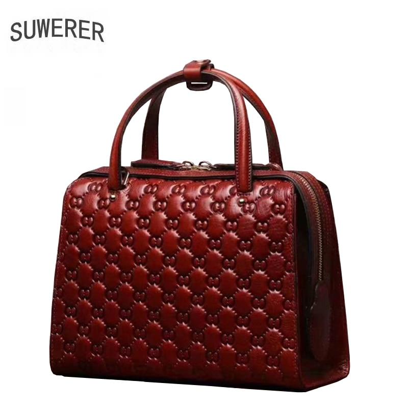 SUWERER Real cowhide women Genuine Leather handbags designer bags famous brand women bags 2020 luxury handbags women bags