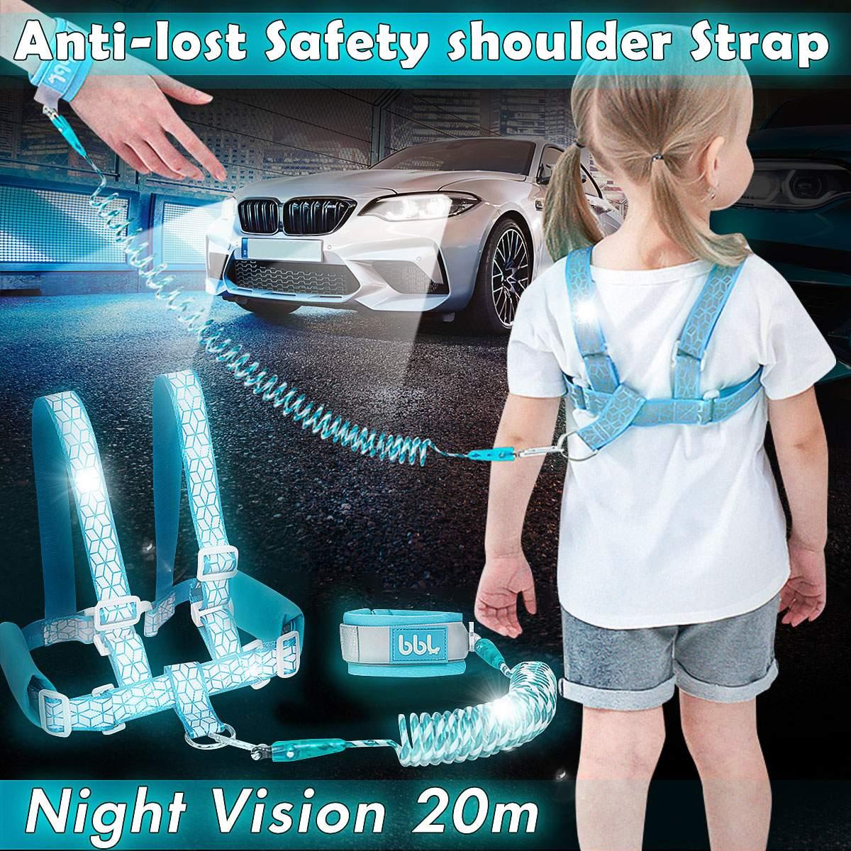 Baby Kids Walking Leash Safety Harness Strap Toddler Walking Anti-Lost Shoulde Rope Traction Rope Baby Walking Harnesses Leashes