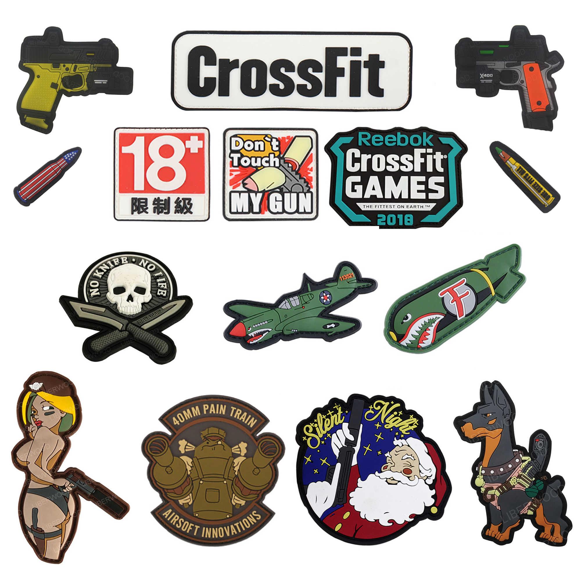 CrossFit Vader puño militar PVC parche moral táctico insignias apliques emblema gancho parches para ropa mochila Accesorios
