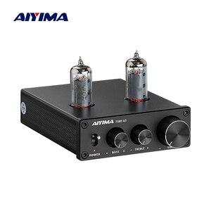 Image 1 - AIYIMA 6K4 튜브 앰프 담즙 프리 앰프 HIFI 프리 앰프 고음 저음 조정 오디오 프리 앰프 DC12V 앰프 스피커 용