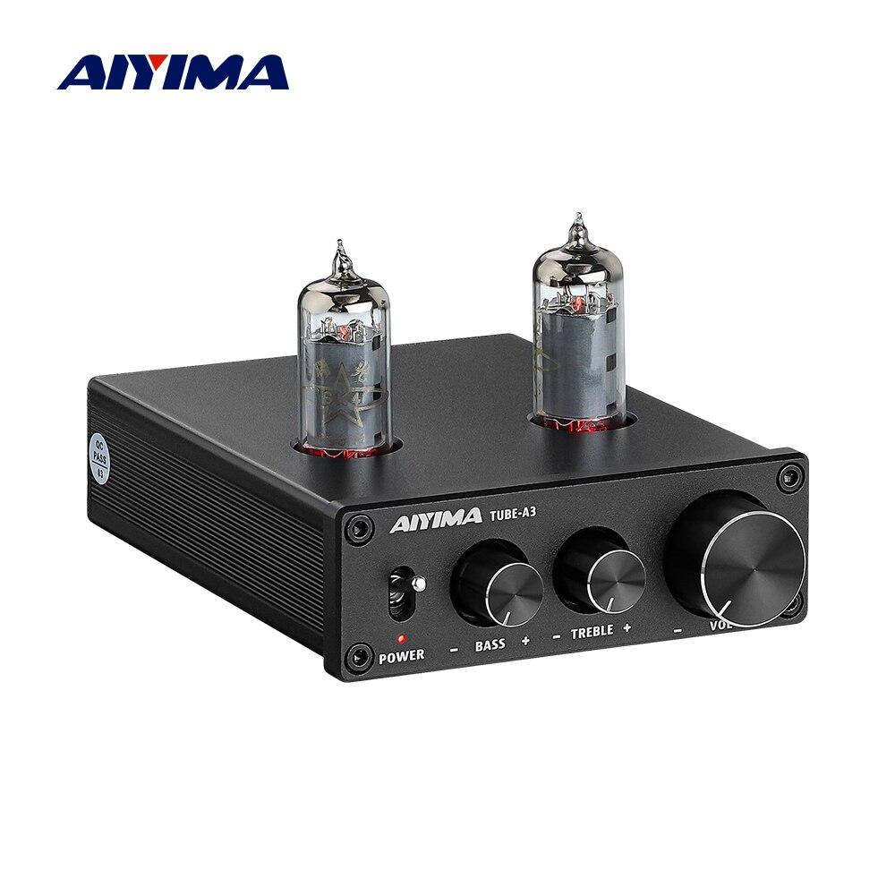 Трубчатый усилитель AIYIMA 6K4, предусилитель желчи, HIFI предусилитель, регулировка высоких басов, предусилитель звука, 12 В постоянного тока для ...