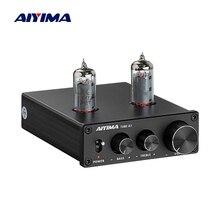 Aiyima 6k4 tubo amplificador bile preamplificador de alta fidelidade preamp agudos baixo ajuste áudio pré amplificador dc12v para amplificador alto falante