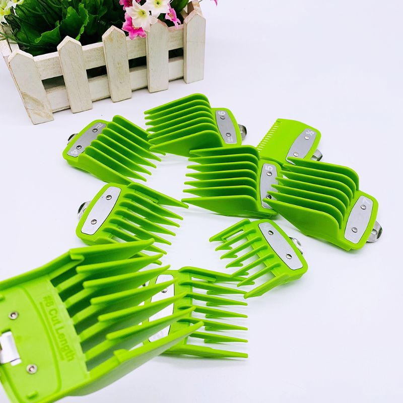 2/8/10PCS Barber Shop Styling Guide Comb Hair Trimmer Clipper Green Limit Comb