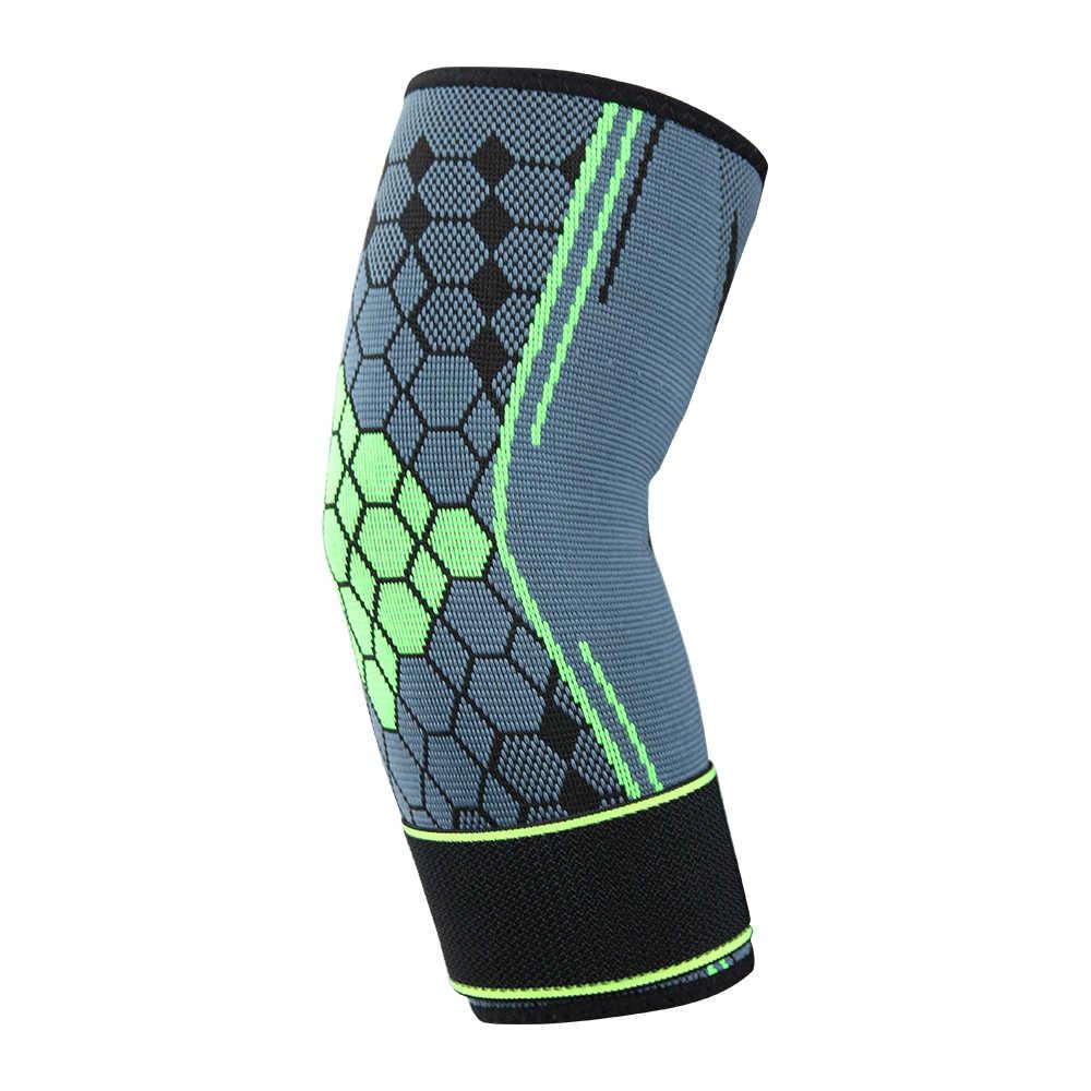 1pc Tennis Elbow Brace Suporte Protector Pressurizado Bandagem Lesão Ajuda Cinta Elástica de Fitness Braço Cotovelo Ajustável Respirável
