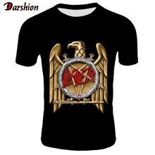 Fashion Hot SLAYER T Shirt Men/Women Summer Black Tshirt Short Sleeve Casual Printed T-shirts Tops Rock Style Asian Size XXS-4XL