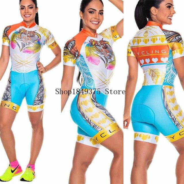 Roupa de ciclismo feminina manga curta, equipamento de equipe corporal sexy de tri skinsuit, roupas de ciclismo personalizadas, triathlon, 2020 5