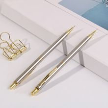 0.5mm Commercial Metal Ballpoint Pen Mechanical Pencil Automatic Pens Writing Drawing School Supplies Stationery X6HB tombow limited edition mechanical pencil metal body ballpoint pen school stationery office supplies writing pen 0 5 0 7 zoom 707