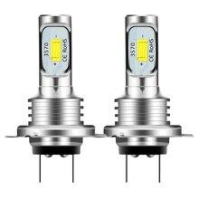 2 шт. H7 светодиодный фары комплект 80 Вт 10000LM Hi или короче спереди и длиннее сзади) Луч лампы 6000K белый IP 68 Водонепроницаемый Canbus светодиодный ф...