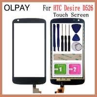 OLPAY 4,7 ''para HTC Desire 526 D526 526G D526H pantalla táctil digitalizador Panel piezas de reparación pantalla táctil Sensor de lente de cristal frontal