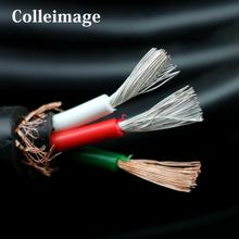 Colleimage Hifi Audio Silver Plated OFC Power Cable for DIY EU/UK/US Power Cable oem power cable 4n ofc eu us uk rhodium gold plated hi end hifi audio power cable power cord