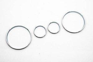 Image 1 - Chrome Snelheidsmeter Gauge Dial Ring Instrument Panel Ring Fit Voor Voor Bmw E39 M5 M 5 Serie E38 E53 X 5