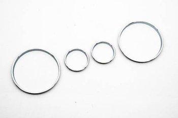 Chromowany prędkościomierz pierścień tarczy pierścień tablicy rozdzielczej pasuje do BMW E39 M5 M 5 seria E38 E53 X 5 tanie i dobre opinie Chrom stylizacja protect decorate for BMW E39 M5 M 5 Series E38 E53 X 5