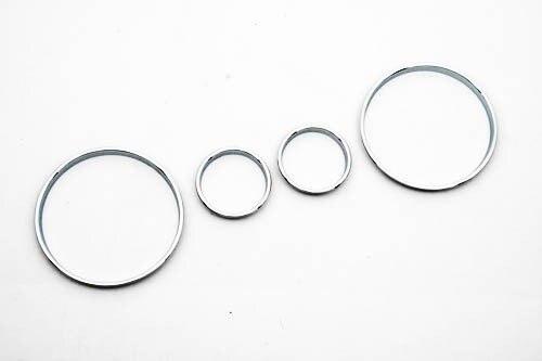 Cromo velocímetro calibre anel de discagem instrumento painel anel apto para bmw e39 m5 m série 5 e38 e53 x 5