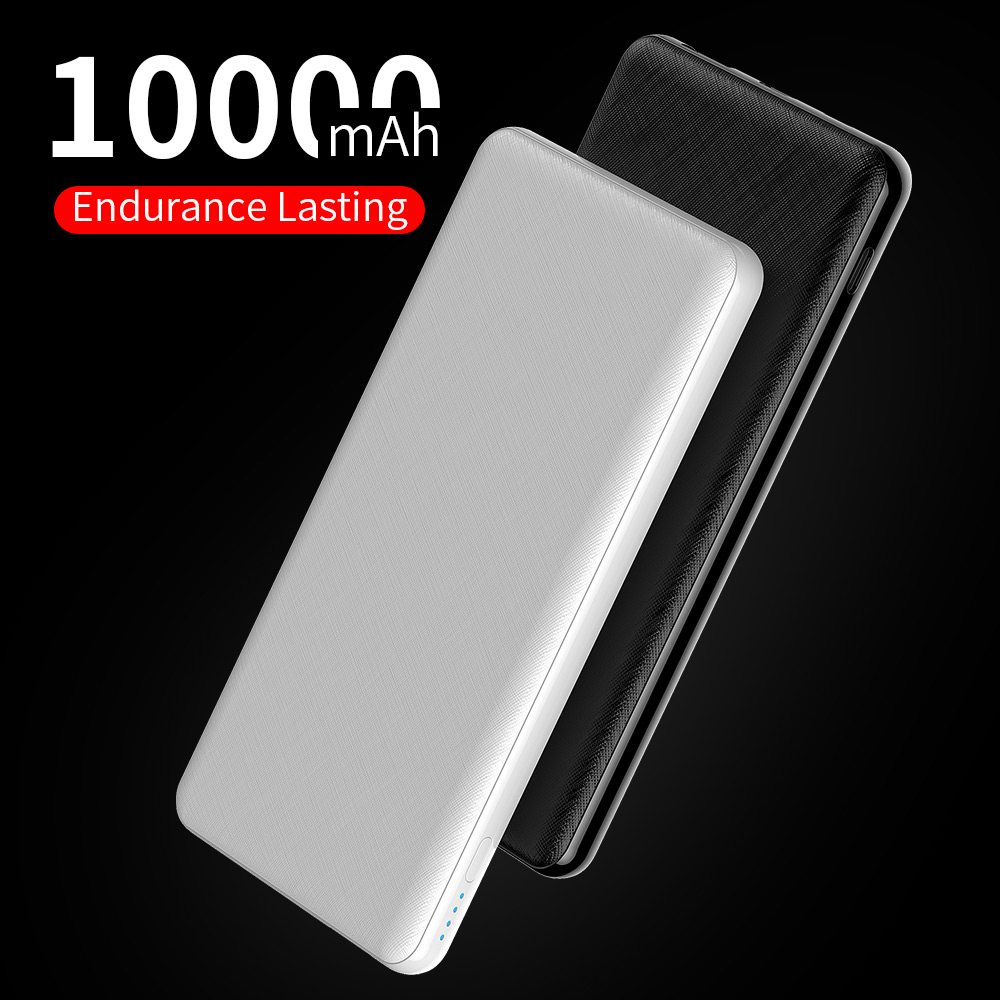YKZ PD QC 3.0 Slim <font><b>10000</b></font> mAh <font><b>Power</b></font> <font><b>Bank</b></font> Portable Powerbank battery 10000mah External Charger USB Type C for xiaomi <font><b>Mi</b></font> Phone image