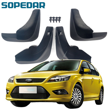 SOPEDAR Car Front Rear Mudguards Splash Guards Mud Flaps Fender For Ford Focus 2 2004 2006 2008 2010 Exterior Parts Auto Stying image
