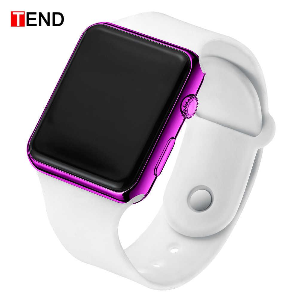 מכירה לוהטת ספורט דיגיטלי שעונים גברים נשים שעון LED אלקטרוני שעון גברים של נשים שעונים סיליקון להקת שעון relogio דיגיטלי