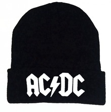 ACDC men and women embroidery leisure winter cap knitted wool hip hop autumn 100