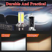 2PCS 4000LM 6000K Ultra White High Brightness 80W Car LED Headlight Bulb Mini Headlight Kit