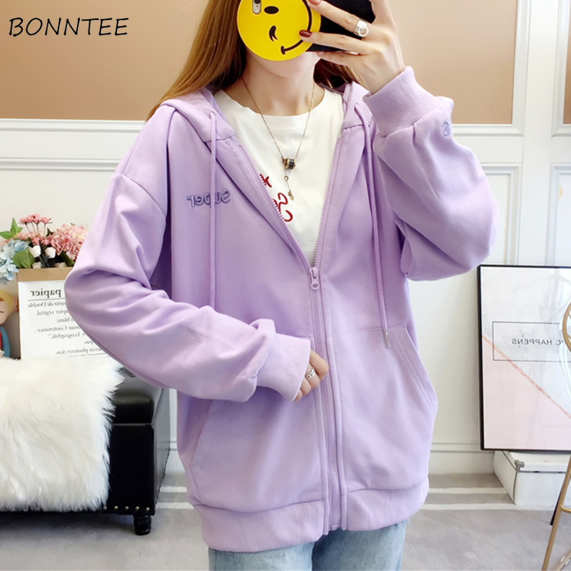 Hoodies Women Harajuku Korean Style Sweet Simple Fashion Daily All-match Loose Casual Womens Clothing High Quality Autumn New
