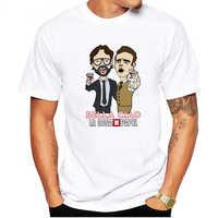 LUSLOS Divertente Design La Casa De Papel T Camicia Soldi Rapina Magliette Serie TV Magliette Da Uomo Manica Corta Casa di carta T-Shirt Oversize