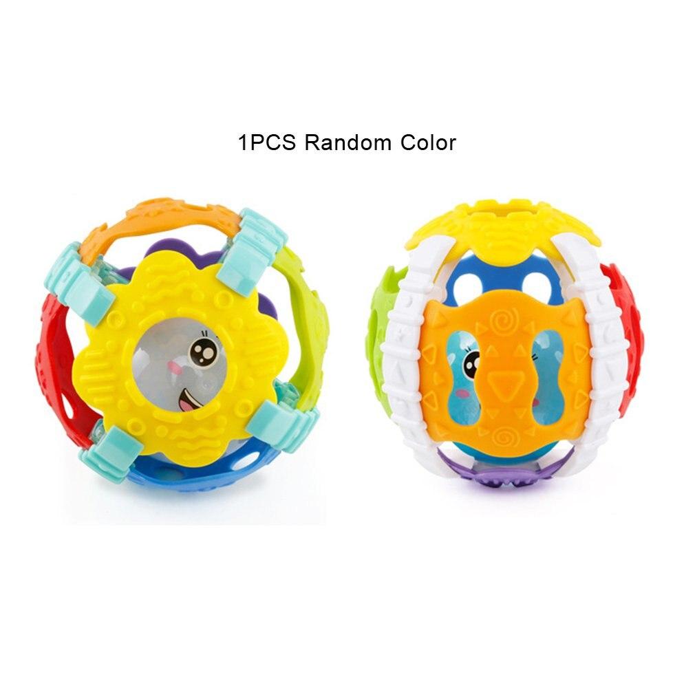 Spielzeug Baby Rassel Weichen Gummi Können Beißen Hand Fangen Ball Spielzeug Mit Sound Und Licht Fitness Ball Neugeborenen Puzzle