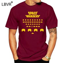 Space Invaders (Klaar Speler Een Halliday Anorak) Mens Black T-shirt(China)