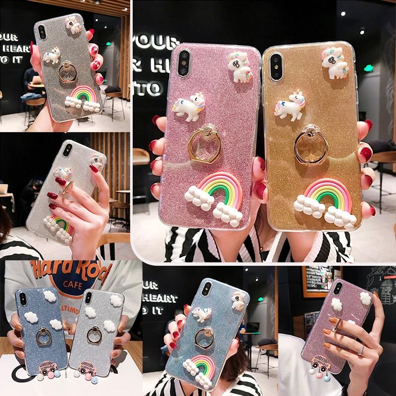 Glitter Case for Xiaomi Mi 8 Lite Mi8 9 SE 9T Pro Mix MAX 2 3 Mi A2 Lite A1 5X 6X 6 5S Plus 4C 4i 4s F1 Luxury Stand Cover