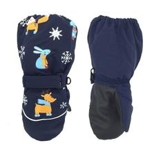 Популярные детские зимние перчатки; теплые детские лыжные перчатки; Утепленные зимние варежки для малышей; водонепроницаемые варежки для мальчиков и девочек; детские перчатки для сноуборда