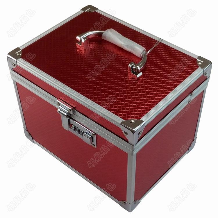 Manufacturers Direct Selling Multi-color Password Suitcase Hand Aluminum Alloy Makeup Box Manicure Kit Foot Massage Box