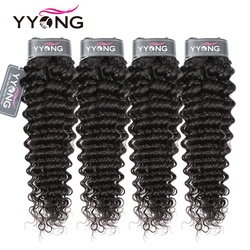 Yyong Peruvian Deep Wave Hair Bundles 3 Or 4 Bundle Deal 100% Human Hair Weave Bundle Deep Wave 8-30Inch Remy Hair Extension