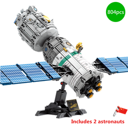Space Flight Rocket Perations Launcher Manned Building Blocks Sets Bricks Spaceship Classic Model Toys for Boys Children Gifts