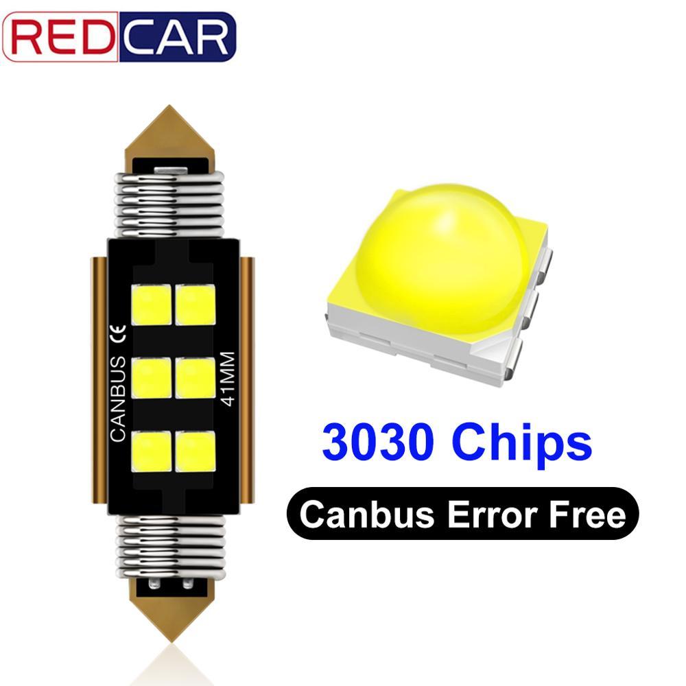 1pcs LED Festoon Dome C5W C10W Car Led Bulb 31mm 36mm 39mm 42mm 6SMD Super Bright 3030 Chips Canbus Error Free Auto Interior Lam