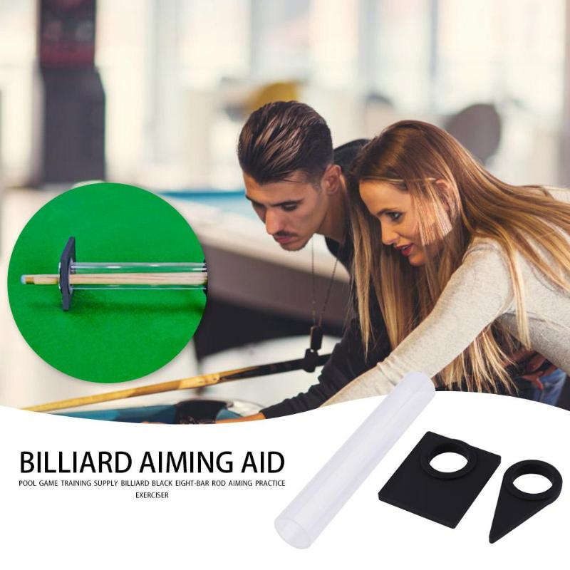 ABS Billiards Training Stroke Exerciser Wide Scope Of Application Practical Delicate Black Eight-Bar Aiming Practice Trainer
